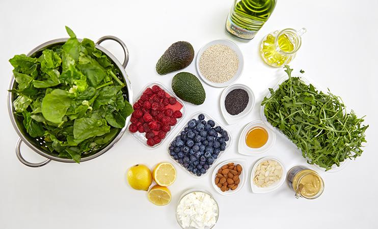Zutaten für den Quinoa-Salat