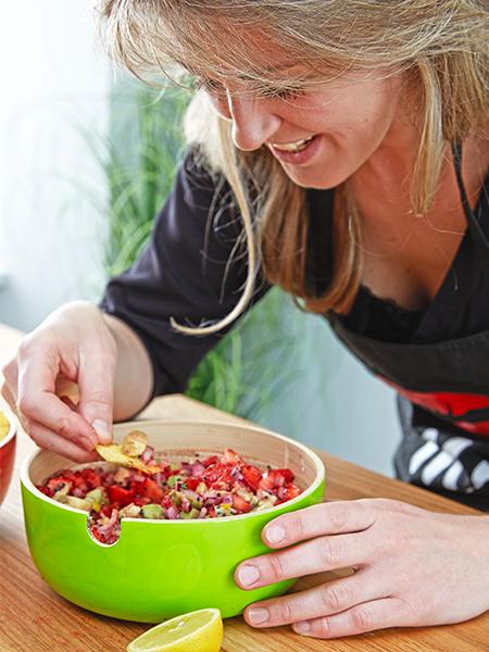 Erdbeer-Avocado-Sals