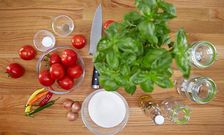 Zutaten fürs Tomaten Marmelade