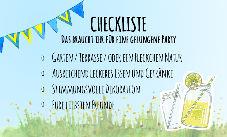 Gartenparty Checkliste