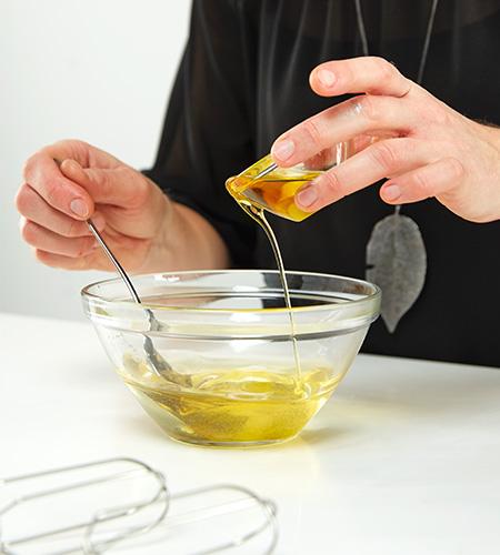 ...Olivenöl hinzufügen