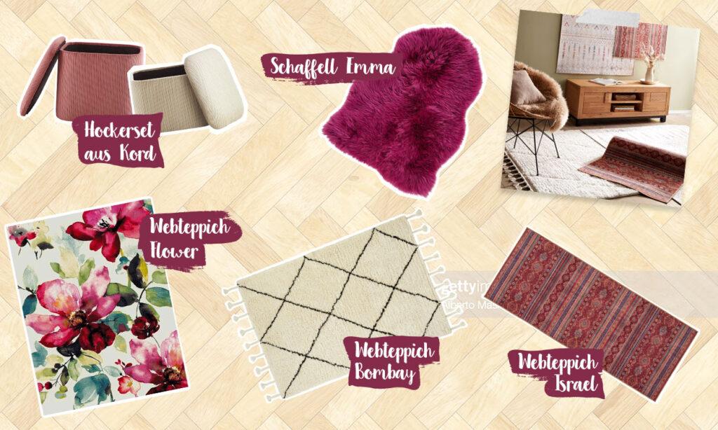 Mias kleines Teppich Lexikon - Collage