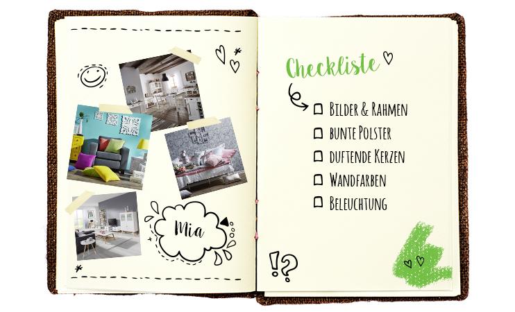 Mia's Checkliste
