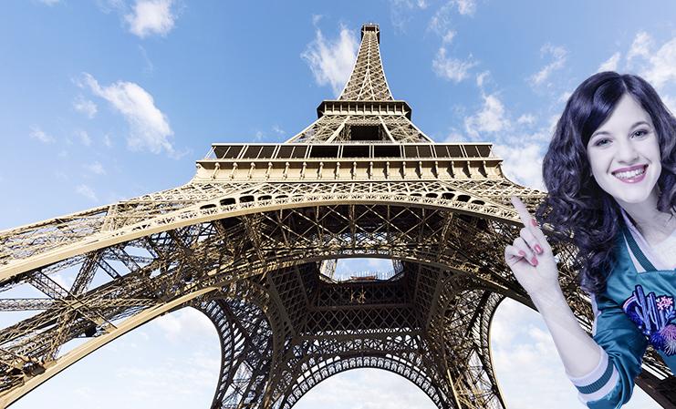 Mia zu Besuch in Paris