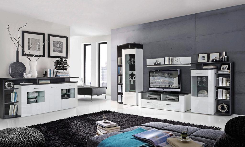 Black and white elegant einrichten