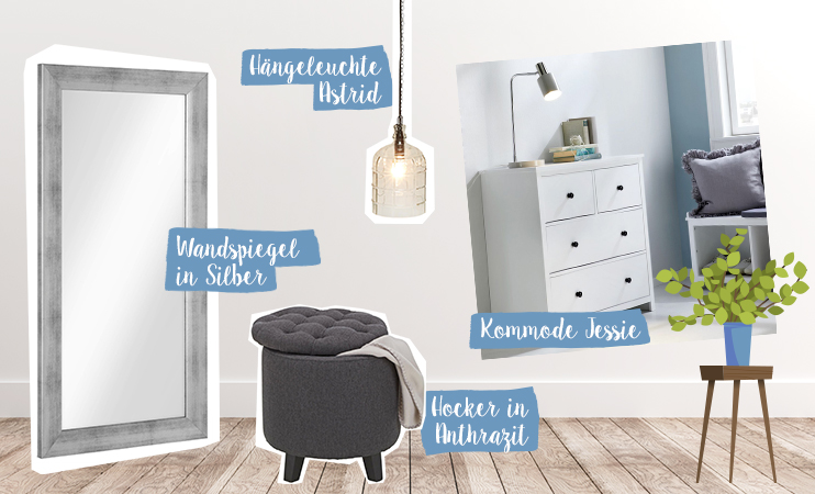 Kleine Räume richtig einrichten - Collage