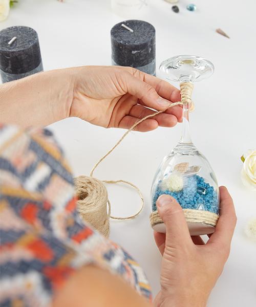 glas umwickeln anleitung