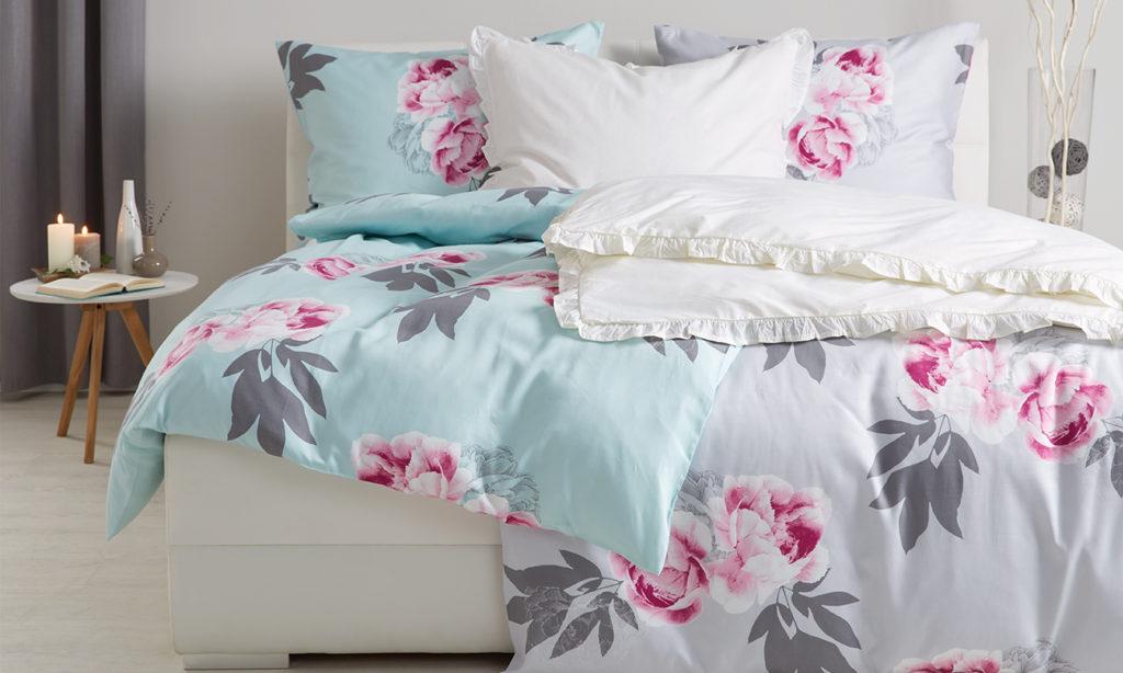 Bettwäsche mit großen floralem Print