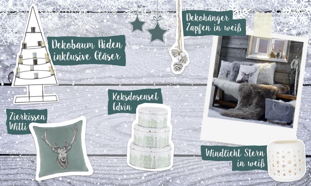 Skandinavisch Weihnachten mit Mia - Collage