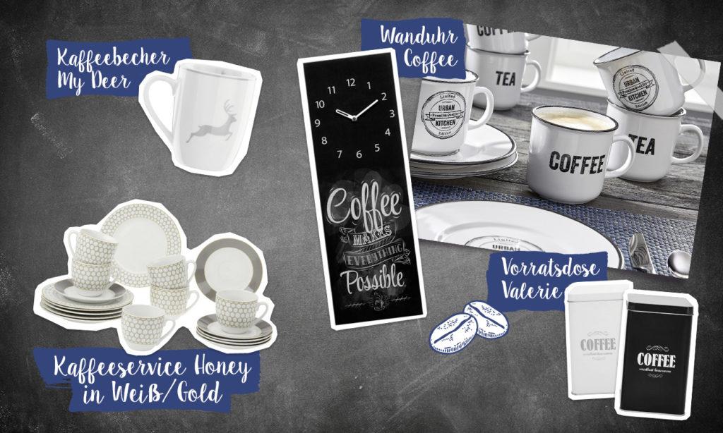Die Geschichte des Kaffees - Collage
