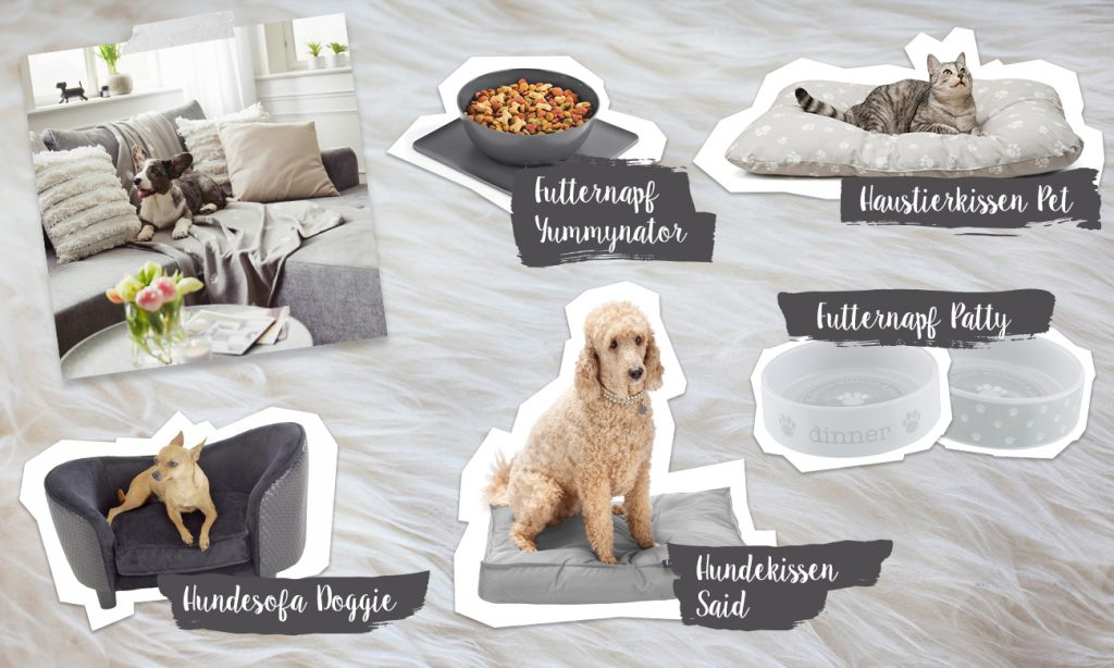 Mia und die Haustiere - Collage
