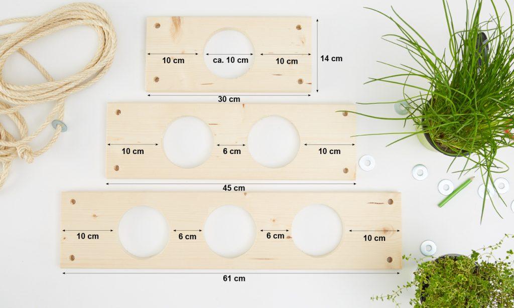 Kräuterregal selber bauen - Abmessungen