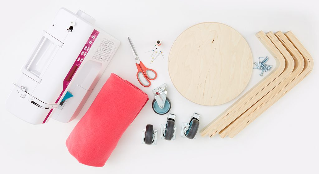 Utensilo DIY mit Hocker - Was man alles benötigt