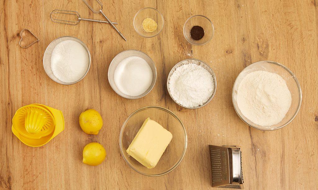 Zitronenkekse-Zutaten