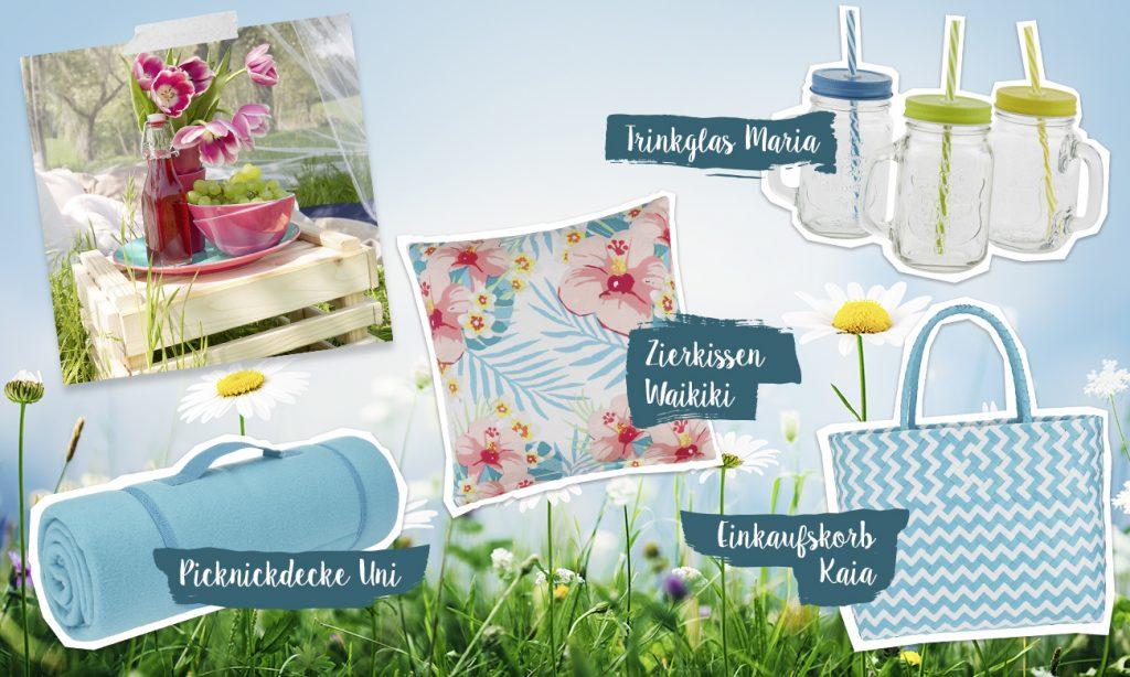 Mia geht picknicken - Collage