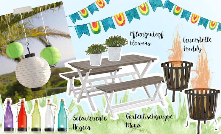 Mia macht eine Gartenparty - Collage