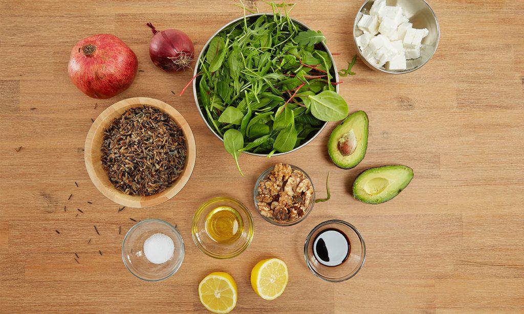 Salat mit Granatapfel - Was man alles benötigt