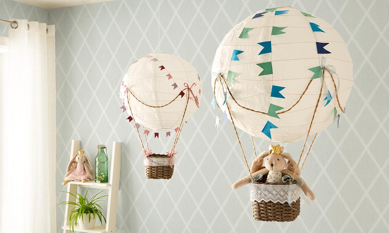 Heißluftballon für\'s Kinderzimmer DIY - mömax blog
