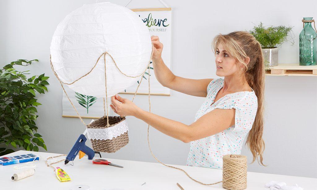 Heißluftballon DIY - mömax Blog - Yvonne am basteln