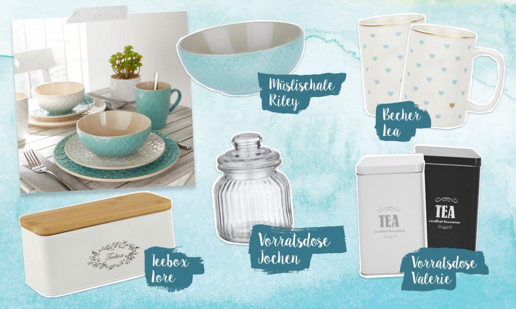 Mia schmeißt eine Tee Party - Collage