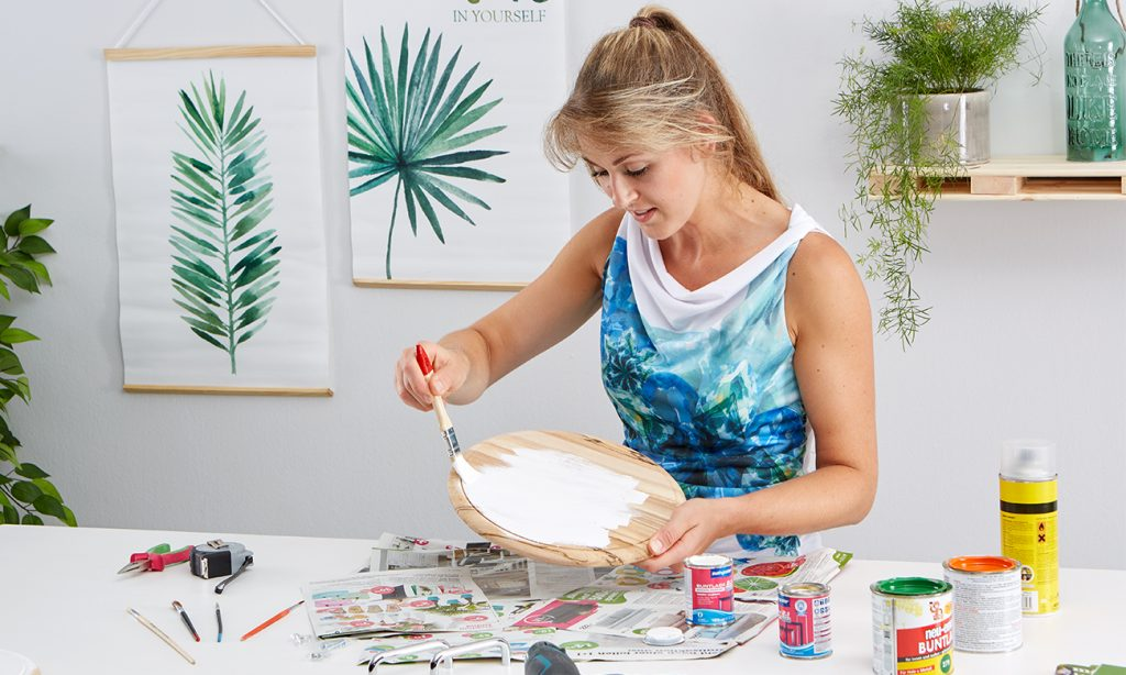 Talbett aus Holzbrett DIY - mömax Blog - Yvonne bastelt
