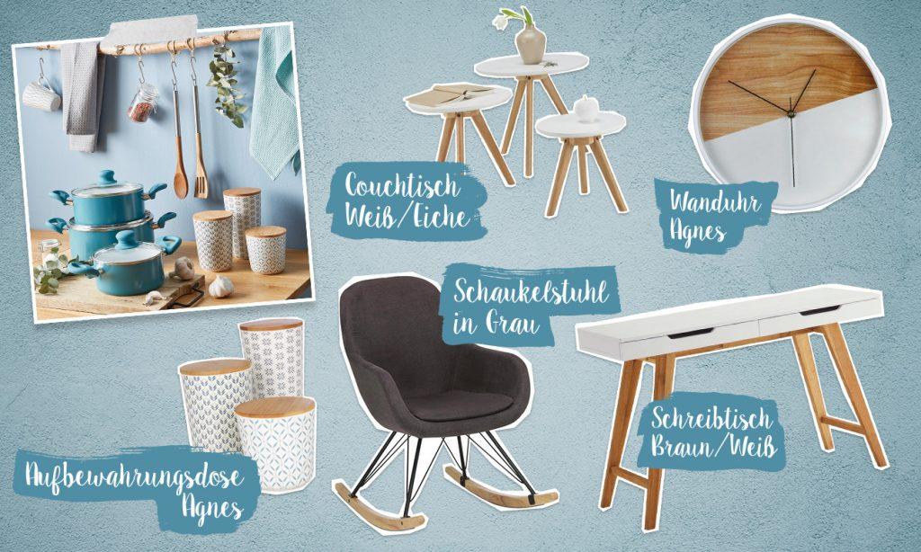 Mia und der skandinavische Einrichtungsstil - Collage