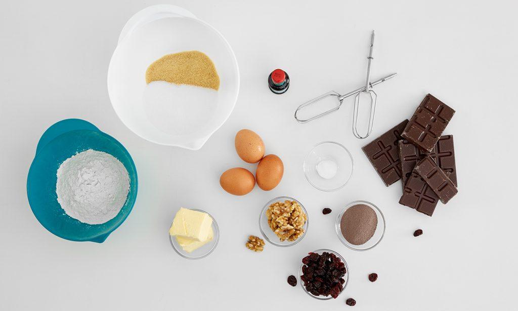 Brownies mit Walnüssen und Cranberries - Zutaten