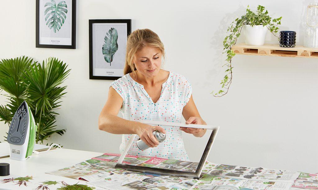 Herbarium im fliegenden Bilderrahmen - mömax Blog - Yvonne bastelt5