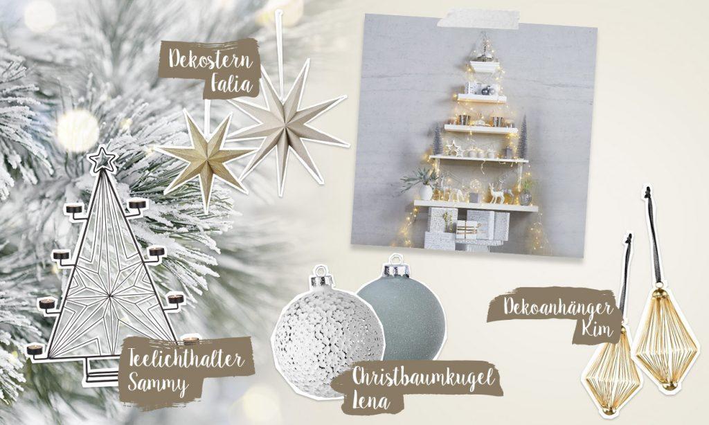 Mia und der Weihnachtsbaum - Collage