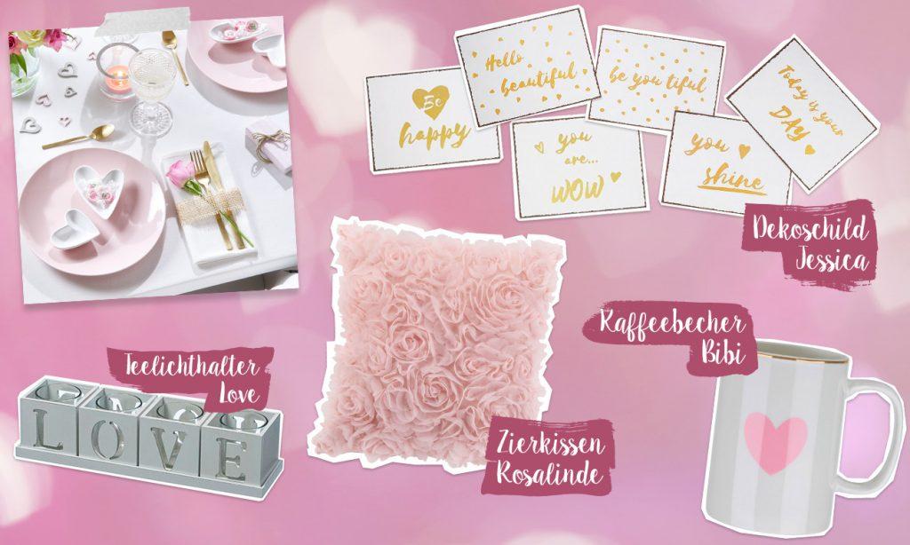 Mia feiert den Valentinstag - Collage