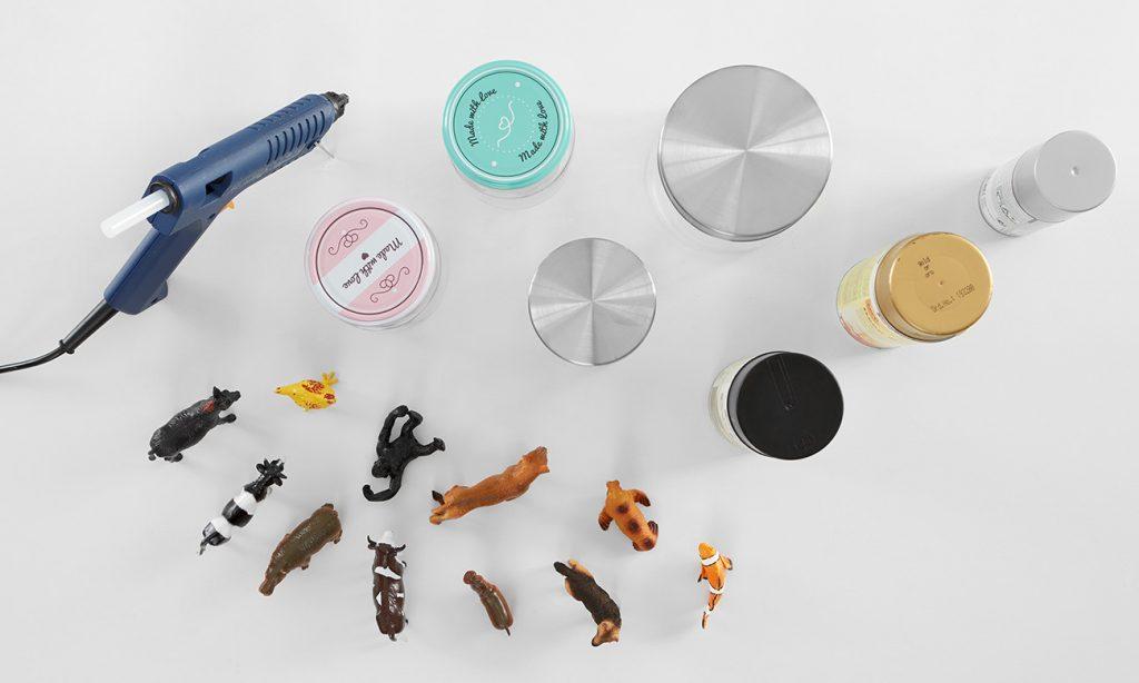 Tierische Vorratsdosen selber machen - was man alles benötigt
