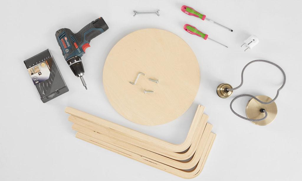 Tischleuchte aus Holz selber machen - was man alles benötigt