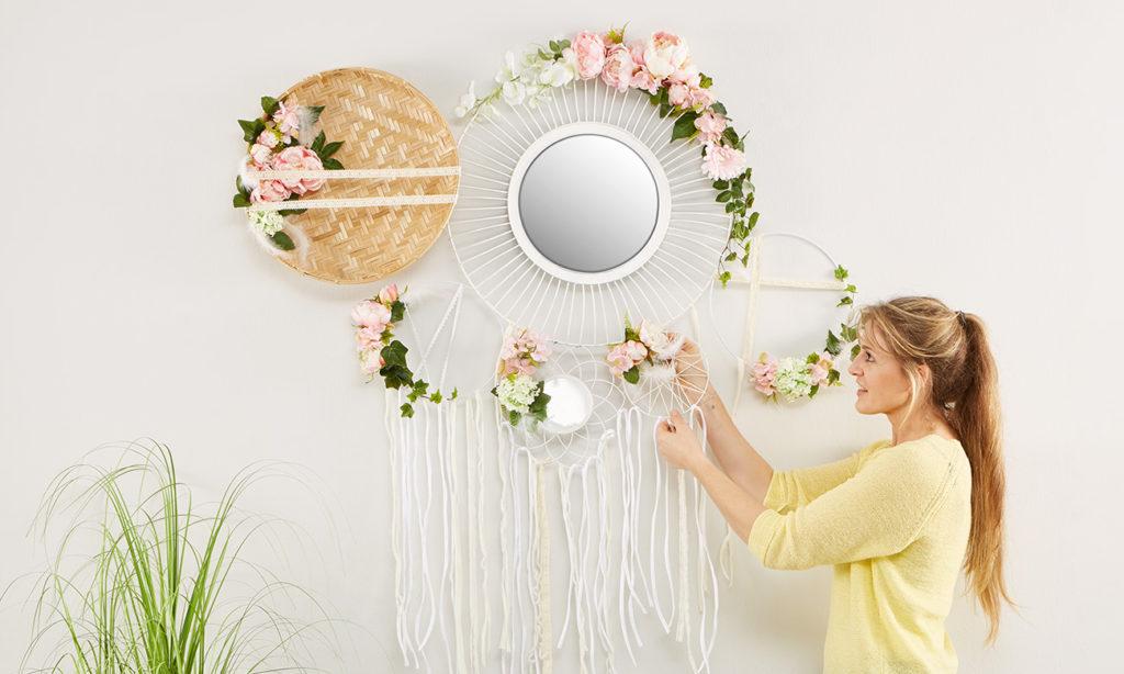 Hochzeitsdeko für die Wand - mömax Blog - Yvonne bastelt eine Hochzeitsdeko