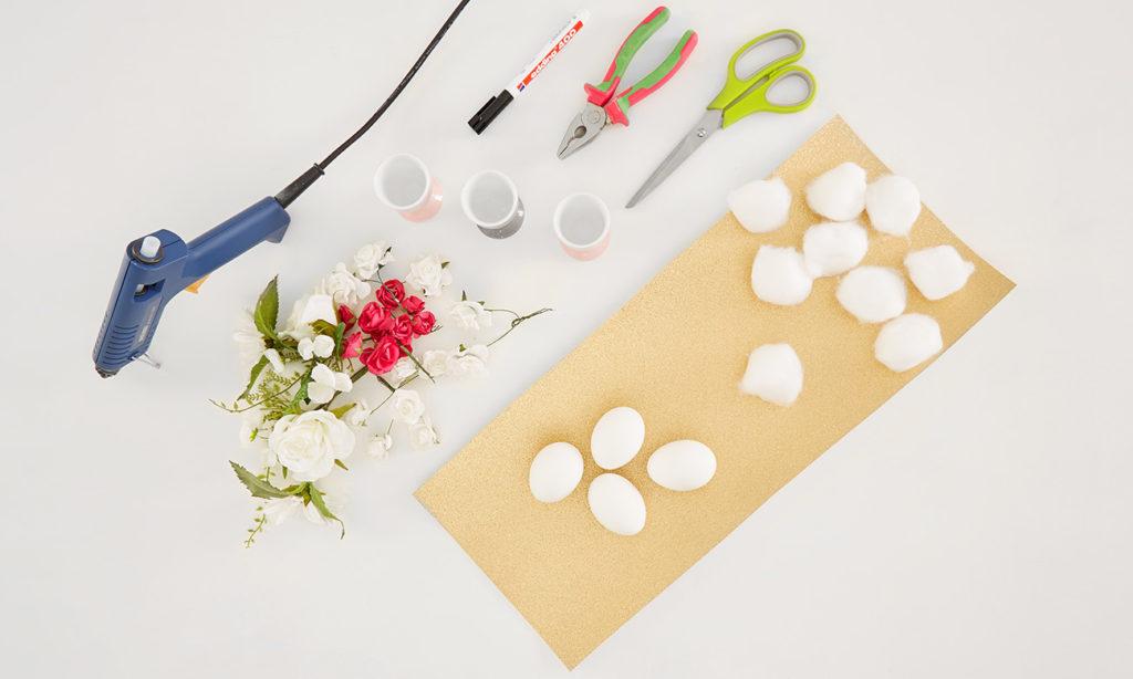 Einhorn-Ostereier selber machen - Was man alles benötigt