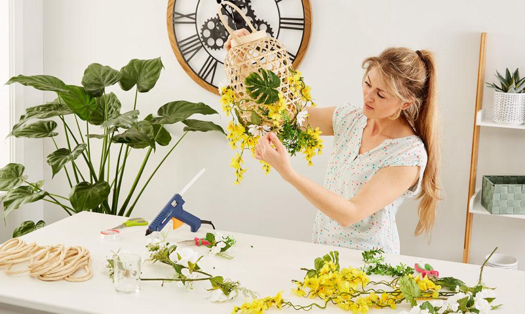 Laternen für die Gartenparty selber machen - mömax Blog -Yvonne bastelt