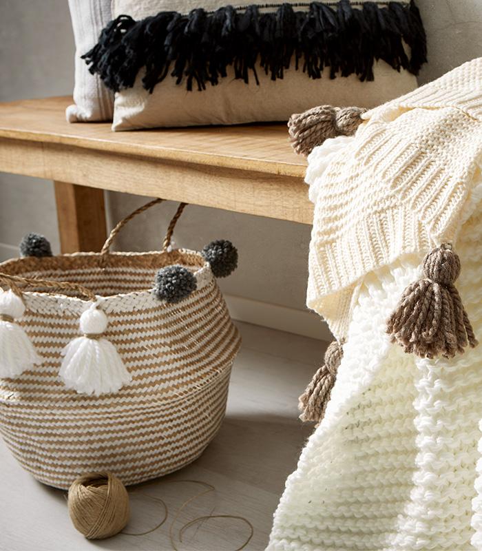 Pompon und Tasseln DIY