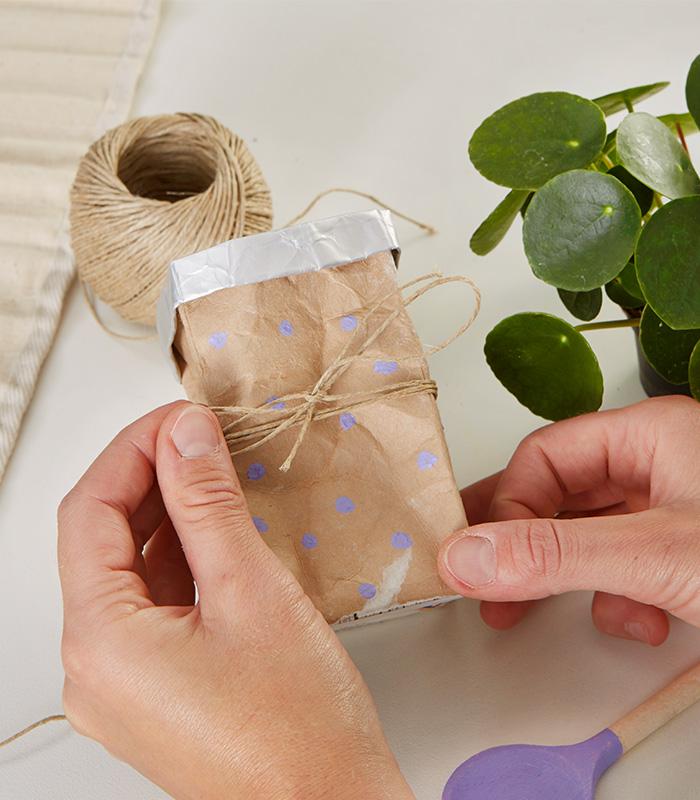 Tetrapack upcycling - Blumentopf DIY - mömax Blog