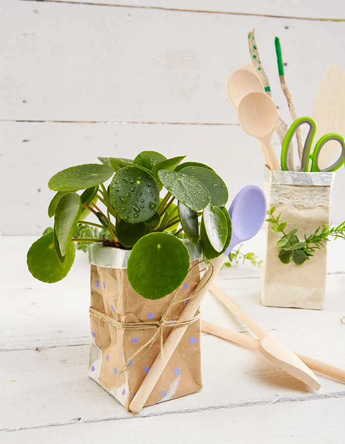 Tetrapack upcycling - Blumentopf DIY