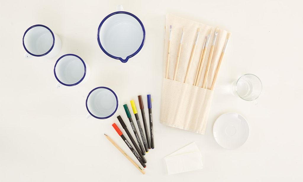 Emaille Tassen selber bemalen - Was man alles benötigt