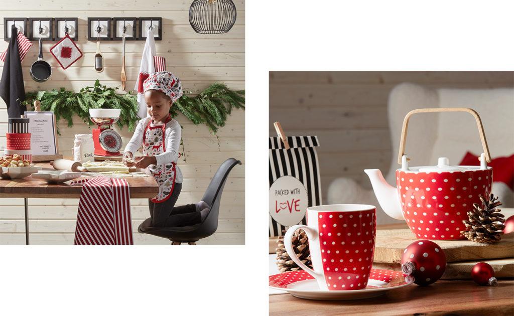 Mia in der Weihnachtsbäckerei - Collage