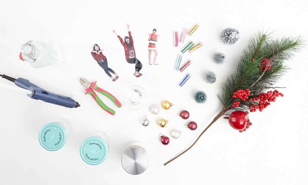 Schneekugel mit Foto selber machen - was man alles benötigt