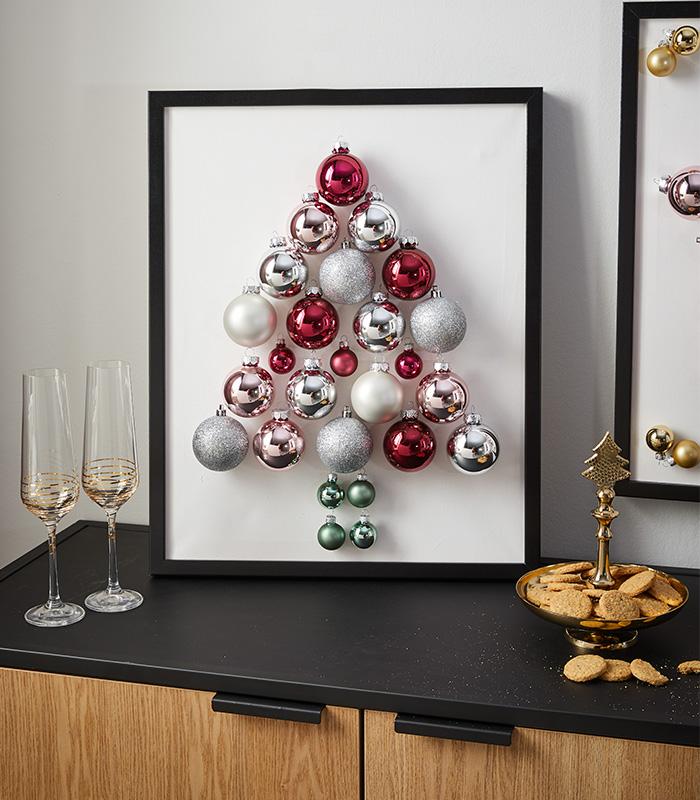 Weihnachtsdeko aus Christbaumkugeln DIY