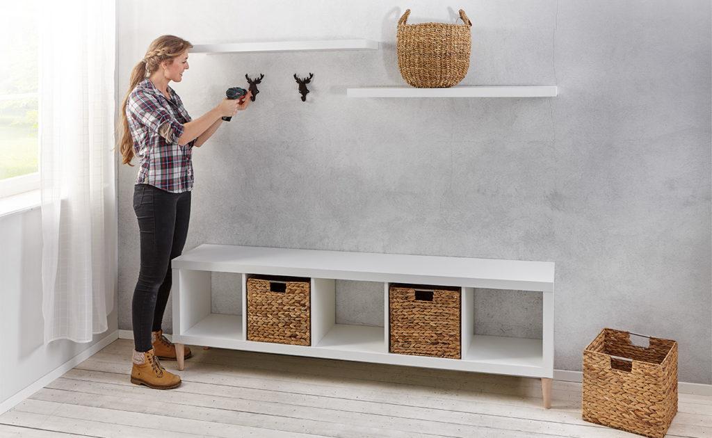 Gaderobe im skandinavischen Stil einfach selber machen - mömax Blog -Yvonne bastelt eine Garderobe