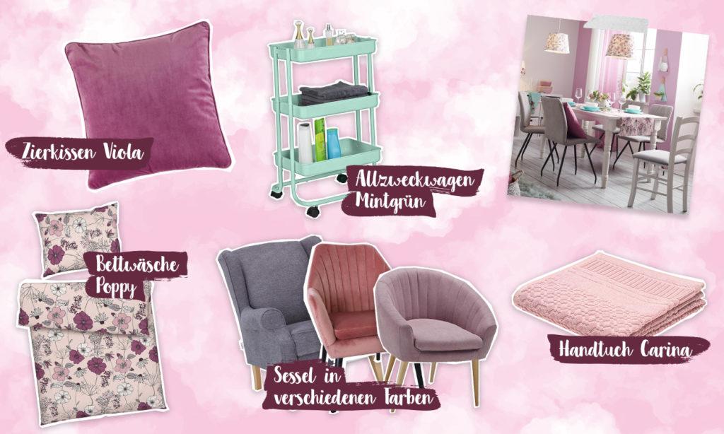 Mia im Violet Dream - Collage