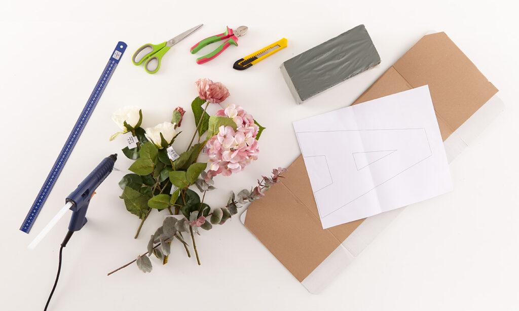 Blumen Buchstaben DIY - was man dafür alles benötigt
