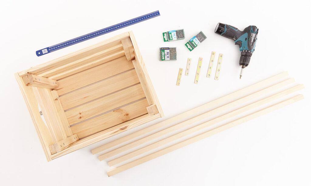 Regal aus Holzkisten selber machen - Was man alles benötigt