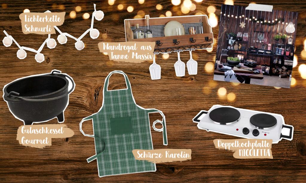 Mia macht einen Weihnachtsmarkt aus ihrer Outdoor Kitchen
