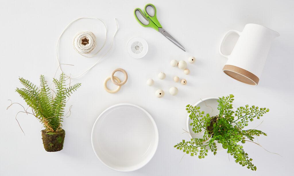 Makramee-Blumenampel DIY - Was man alles benötigt