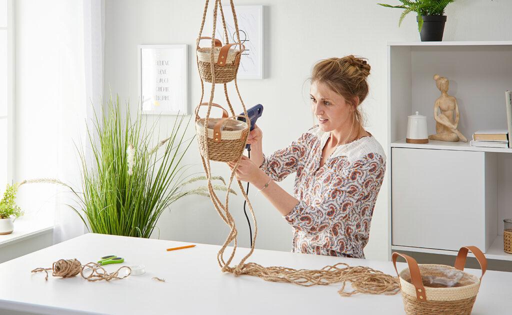 Obst Hängekorb DIY - mömax Blog - Yvonne bastelt einen Hängekorb