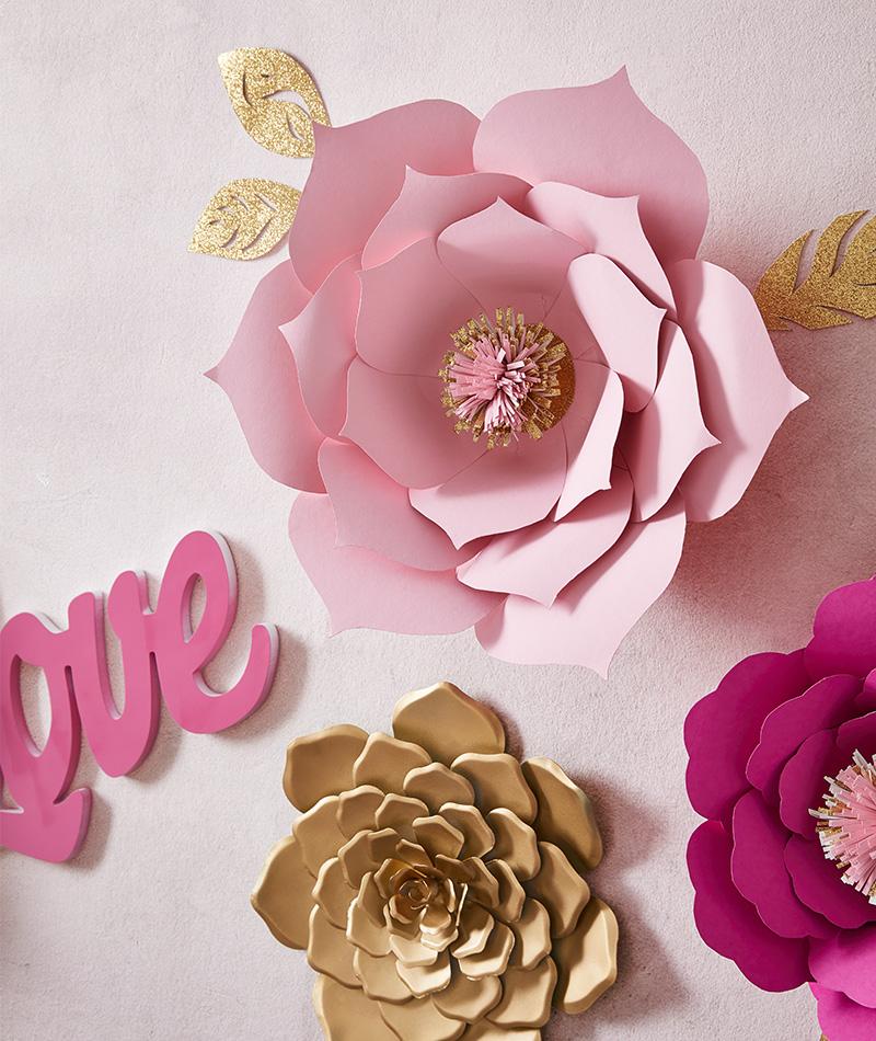 Papierblumen für die Wand DIY - mömax Blog